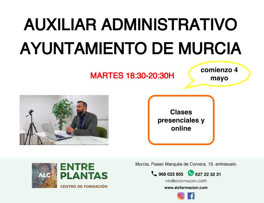 Nuevo grupo auxiliar administrativo del Ayuntamiento de Murcia